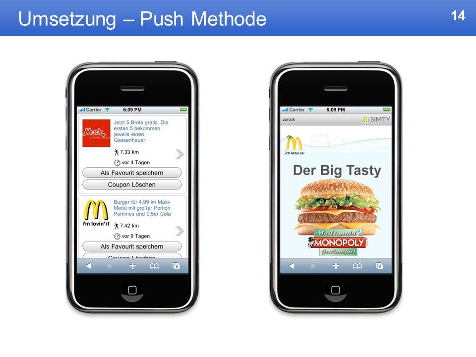 14 Umsetzung – Push Methode
