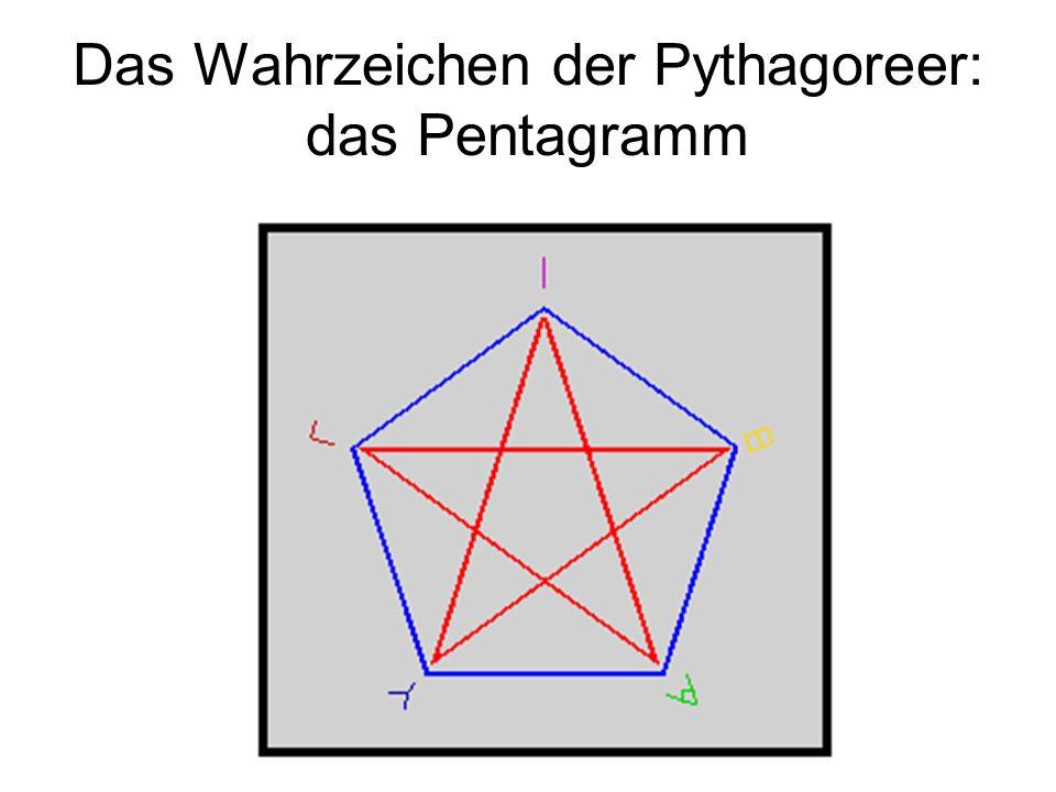 Das Wahrzeichen der Pythagoreer: das Pentagramm