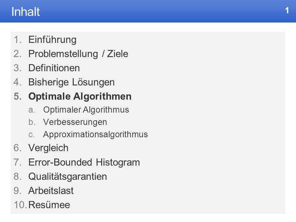 Optimale Histogramme Daniel Aigner aigner@mathematik.uni-marburg.de