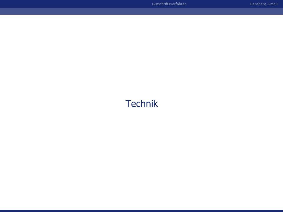 Bensberg GmbHGutschriftsverfahren Technik