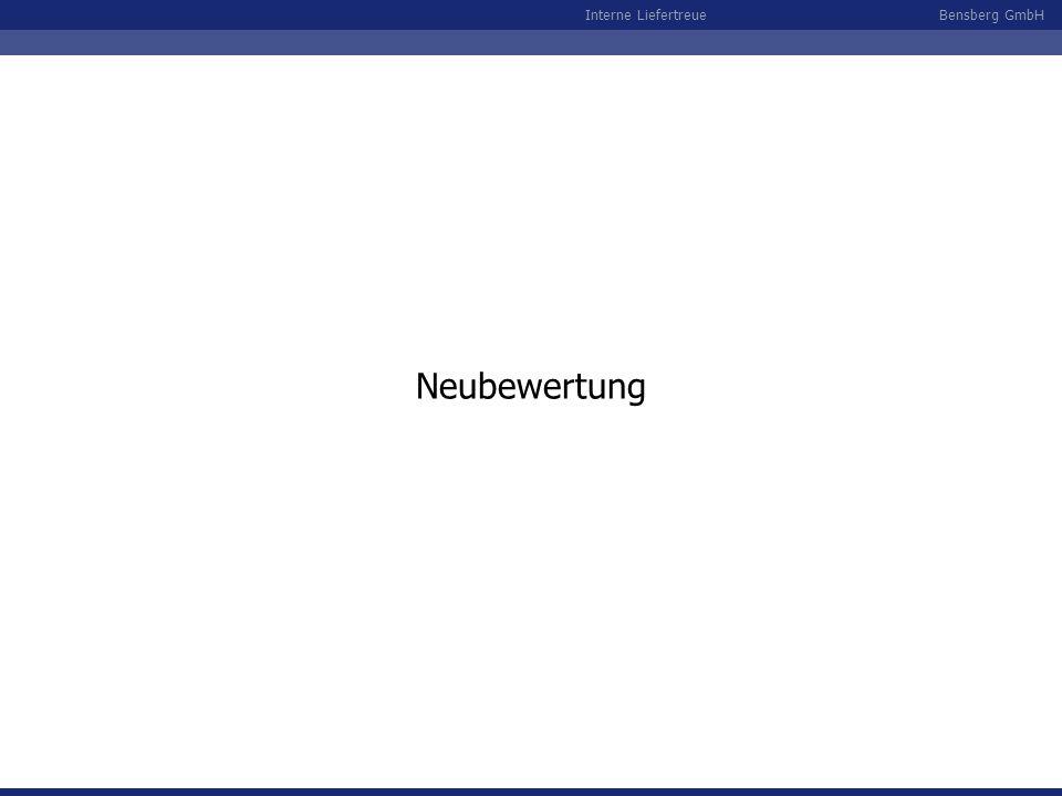Bensberg GmbHInterne Liefertreue Neubewertung