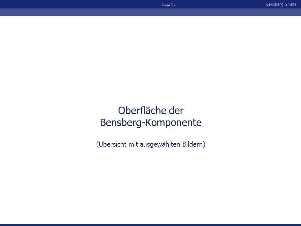 Bensberg GmbHDELINS Oberfläche der Bensberg-Komponente (Übersicht mit ausgewählten Bildern)