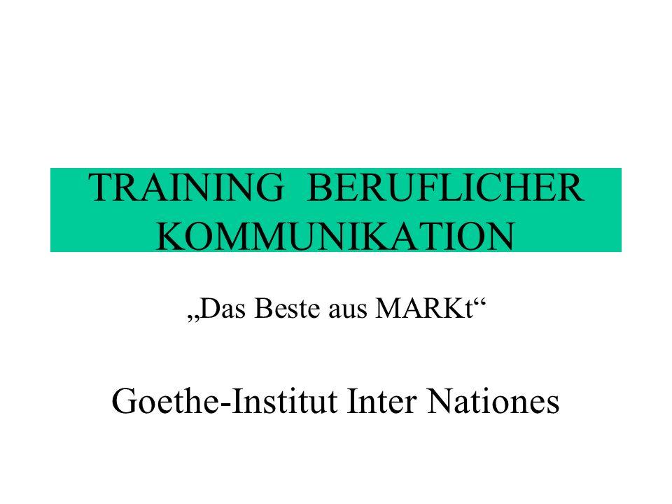 TRAINING BERUFLICHER KOMMUNIKATION 6 Module (Dossiers) je 40 - 60 Seiten Didaktisierte Artikel, v.a.