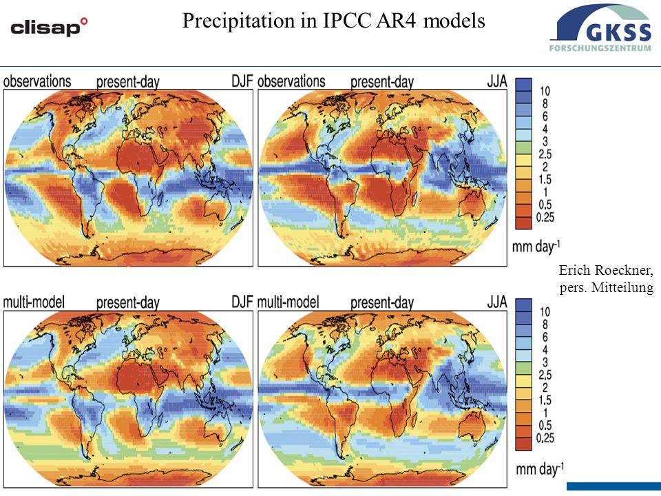 #18 Wien, 26/02/09 Precipitation in IPCC AR4 models Erich Roeckner, pers. Mitteilung