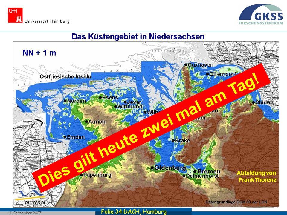 Folie 34 DACH, Hamburg 11. September 2007 Dies gilt heute zwei mal am Tag! Abbildung von FrankThorenz