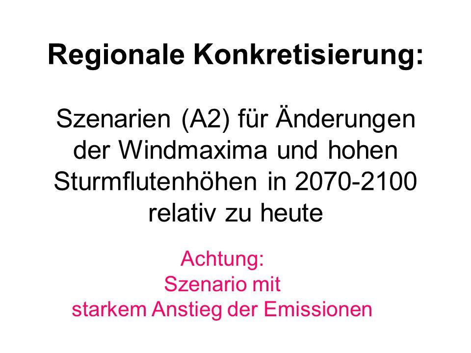 Ableitung eines konsistenten Windwetters in 2070-2100 unter A2 Bedingungen.
