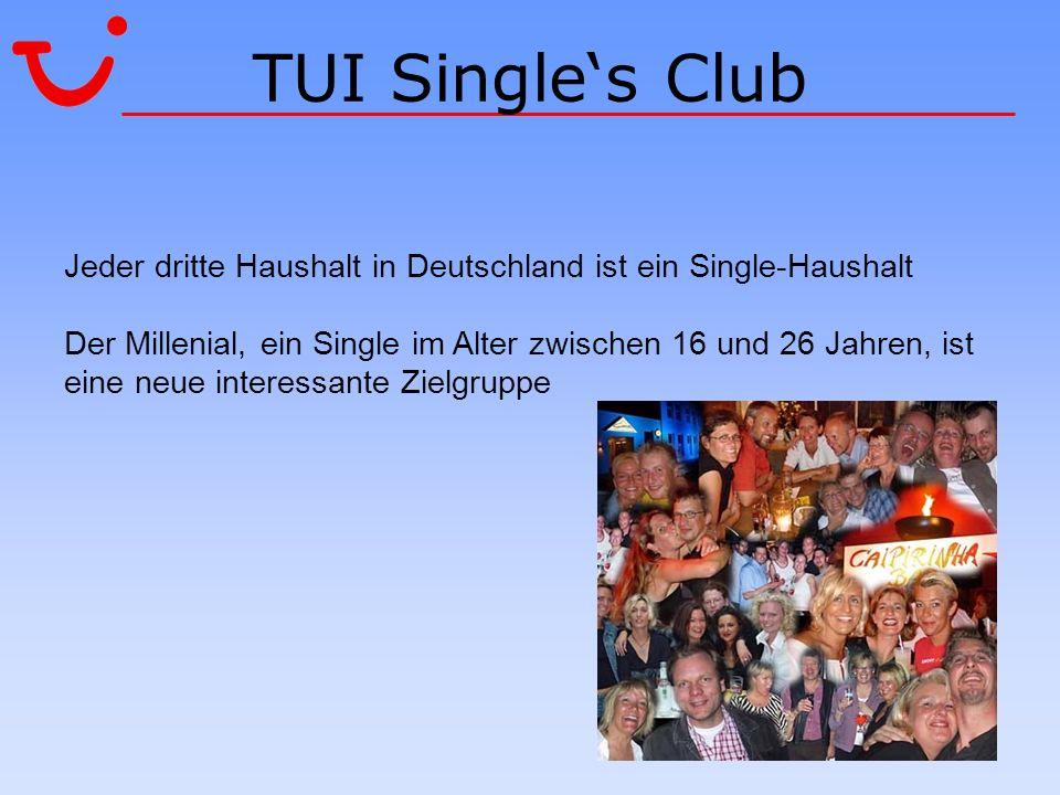 TUI Singles Club Jeder dritte Haushalt in Deutschland ist ein Single-Haushalt Der Millenial, ein Single im Alter zwischen 16 und 26 Jahren, ist eine n