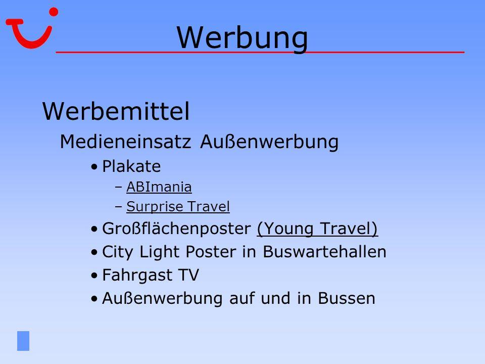 Werbung Werbemittel Medieneinsatz Außenwerbung Plakate –ABImaniaABImania –Surprise TravelSurprise Travel Großflächenposter (Young Travel)(Young Travel