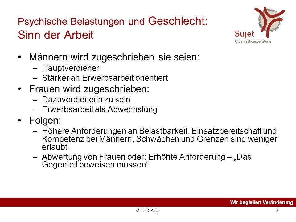 Wir begleiten Veränderung © 2013 Sujet19 Weitere Informationen Michael Gümbel/Sonja Nielbock (2012): Die Last der Stereotype.
