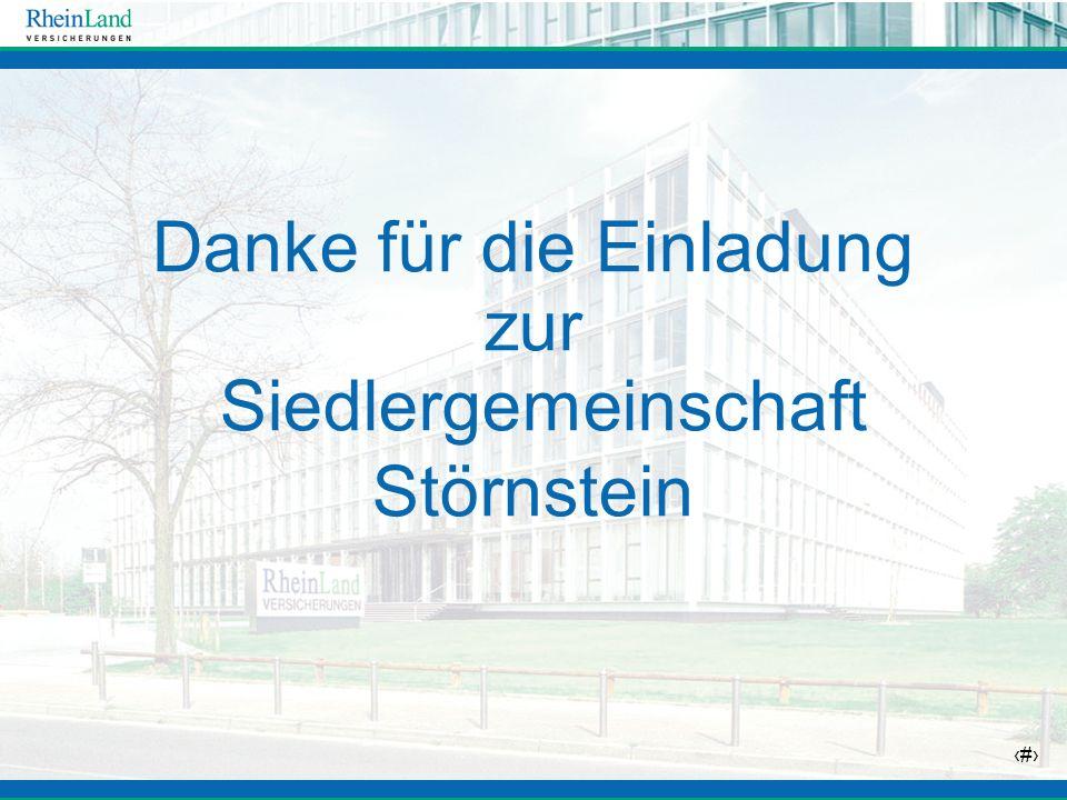 2 Danke für die Einladung zur Siedlergemeinschaft Störnstein