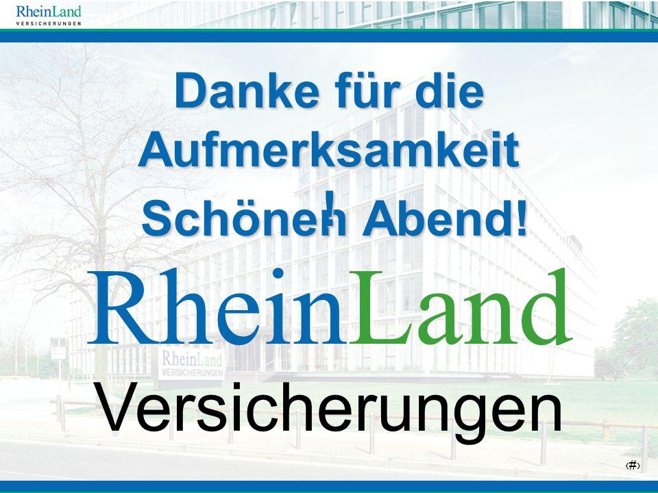 36 Schönen Abend! Schönen Abend! RheinLand Versicherungen Danke für die Aufmerksamkeit !