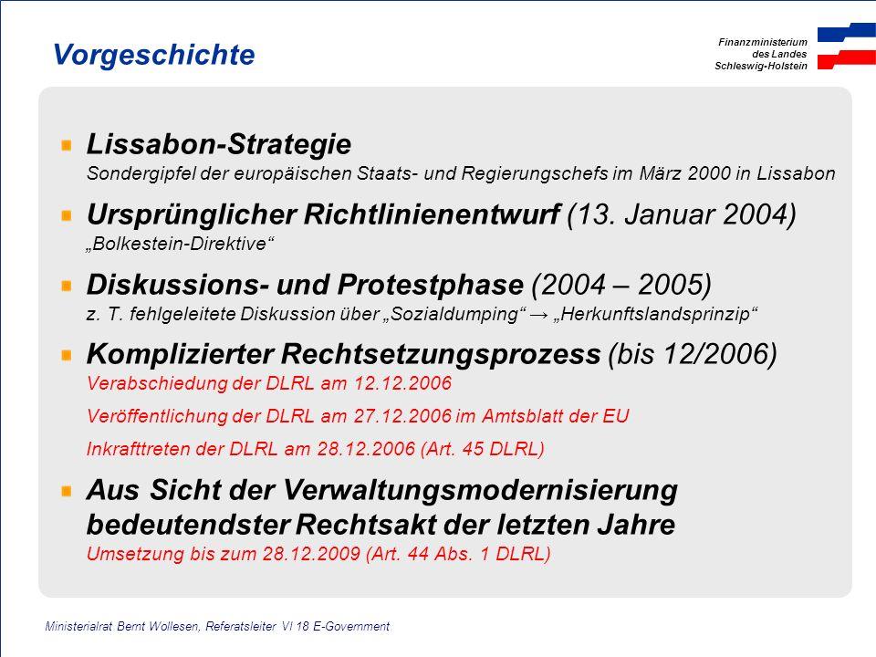 Finanzministerium des Landes Schleswig-Holstein Vorgeschichte Lissabon-Strategie Sondergipfel der europäischen Staats- und Regierungschefs im März 200