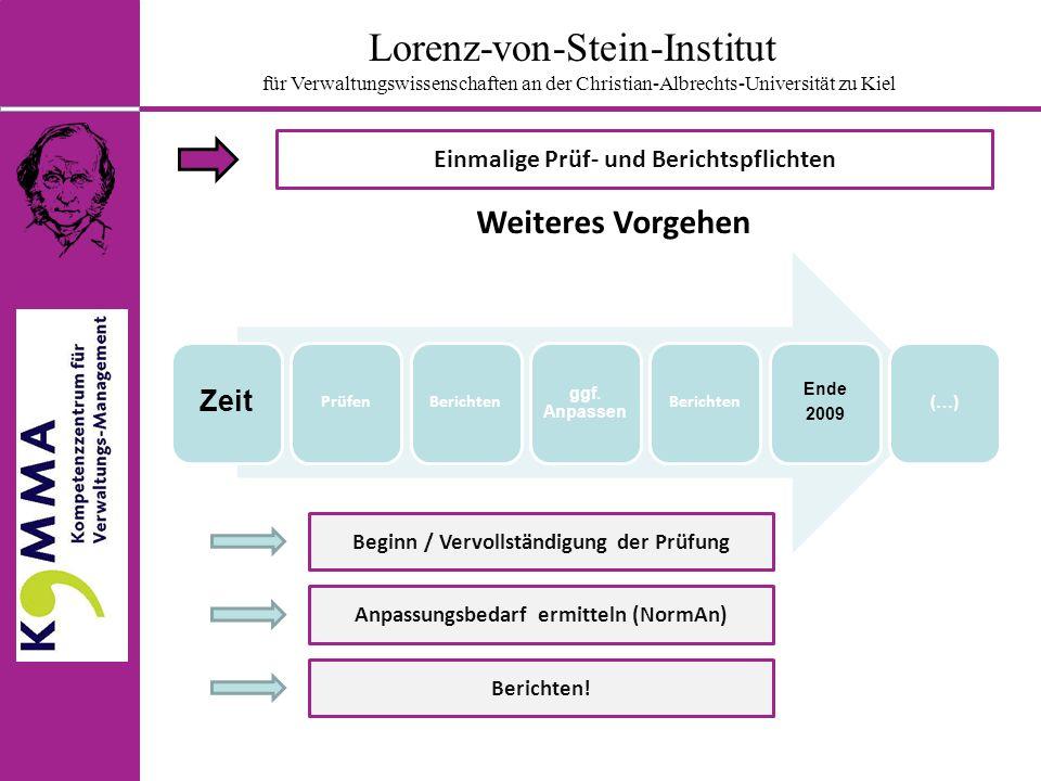 Lorenz-von-Stein-Institut für Verwaltungswissenschaften an der Christian-Albrechts-Universität zu Kiel Wer hat zu überprüfen.