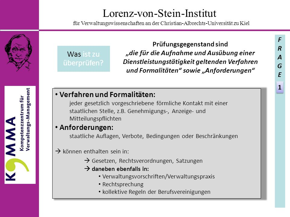 Verfahren und Formalitäten: jeder gesetzlich vorgeschriebene förmliche Kontakt mit einer staatlichen Stelle, z.B.