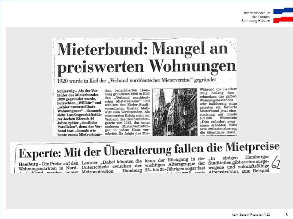 Innenministerium des Landes Schleswig-Holstein Karin Siebeck-Rauscher IV 62 8