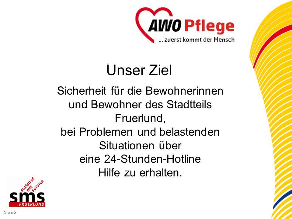 2 © wkö Sicherheit für die Bewohnerinnen und Bewohner des Stadtteils Fruerlund, bei Problemen und belastenden Situationen über eine 24-Stunden-Hotline