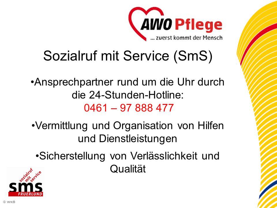 4 © wkö Sozialruf mit Service (SmS) Ansprechpartner rund um die Uhr durch die 24-Stunden-Hotline: 0461 – 97 888 477 Vermittlung und Organisation von H
