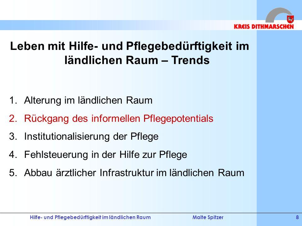 Hilfe- und Pflegebedürftigkeit im ländlichen RaumMalte Spitzer29 Demografische Entwicklung V.