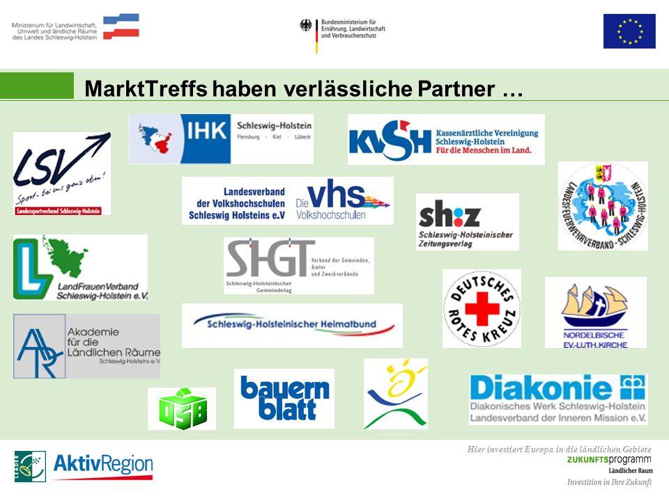 Hier investiert Europa in die ländlichen Gebiete MarktTreffs haben verlässliche Partner …