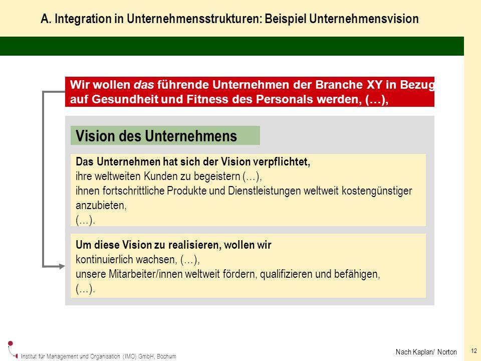 Institut für Management und Organisation (IMO) GmbH, Bochum 12 A.