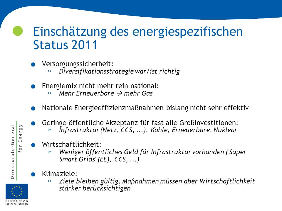 Energy Roadmap 2050.Warum.