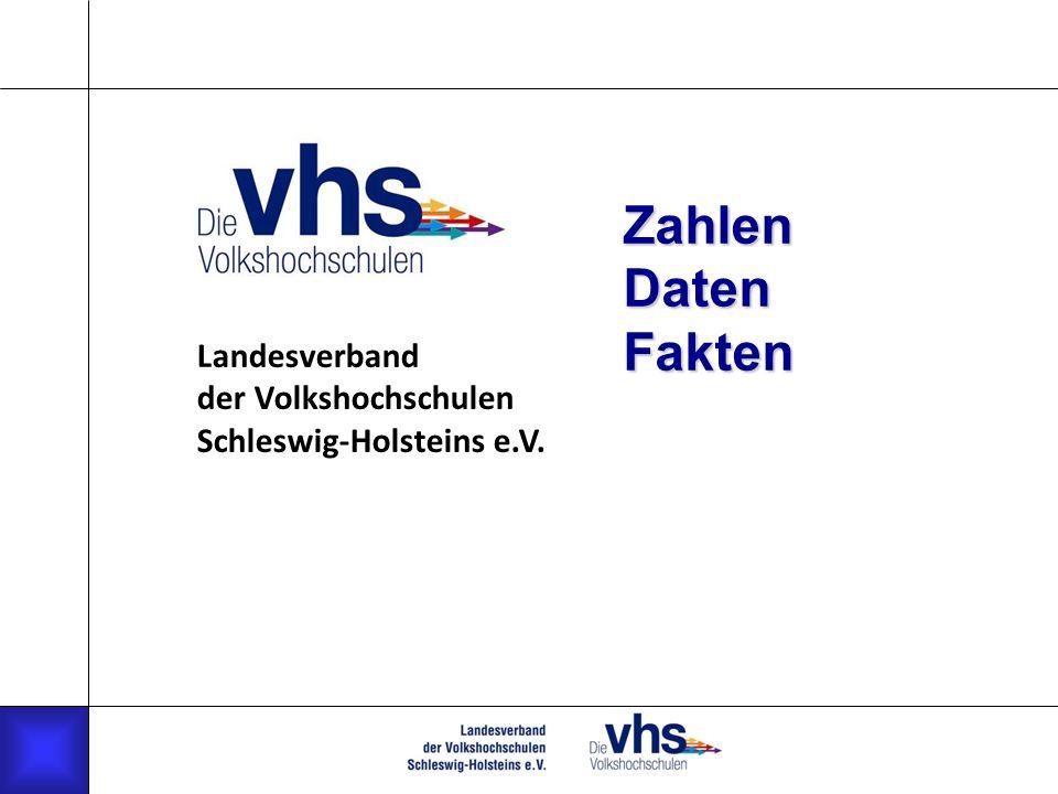 Zahlen Daten Fakten Landesverband der Volkshochschulen Schleswig-Holsteins e.V.