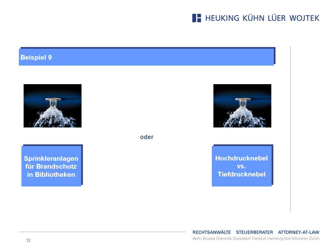 12 oder Hochdrucknebel vs. Tiefdrucknebel Sprinkleranlagen für Brandschutz in Bibliotheken Beispiel 9