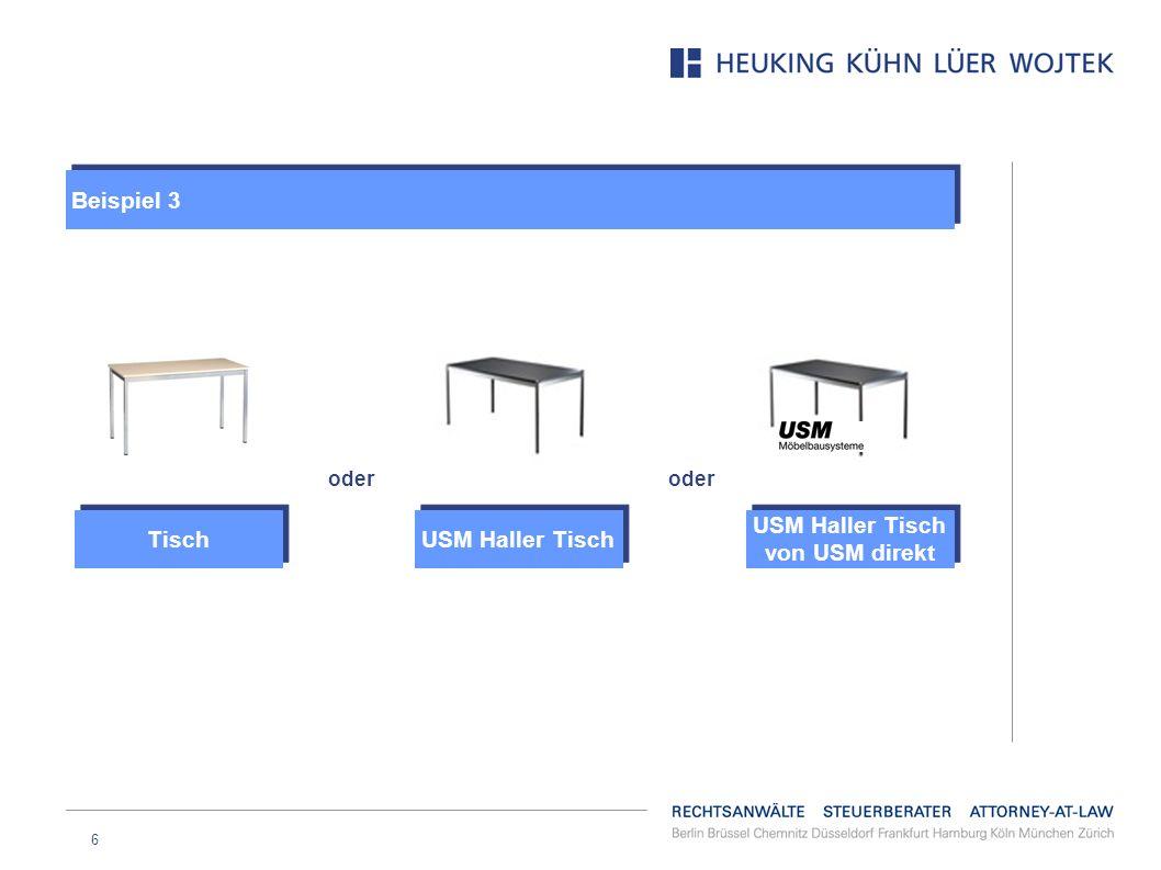 6 USM Haller Tisch von USM direkt oder USM Haller Tisch Tisch Beispiel 3