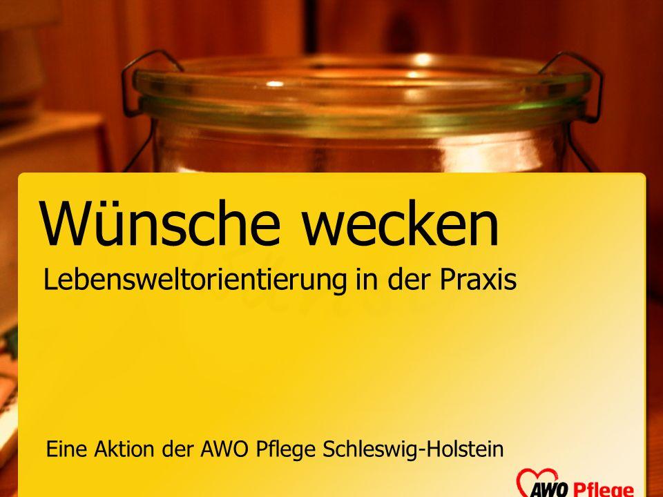Wünsche wecken Eine Aktion der AWO Pflege Schleswig-Holstein Lebensweltorientierung in der Praxis