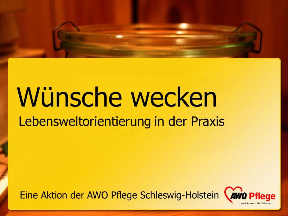Aktion Wünsche wecken Uwe Braun Leiter des Unternehmensbereichs Pflege der AWO Schleswig-Holstein gGmbH Vaasastraße 2a, 24109 Kiel Fon 0431-26043155 Fax 0431-26043159