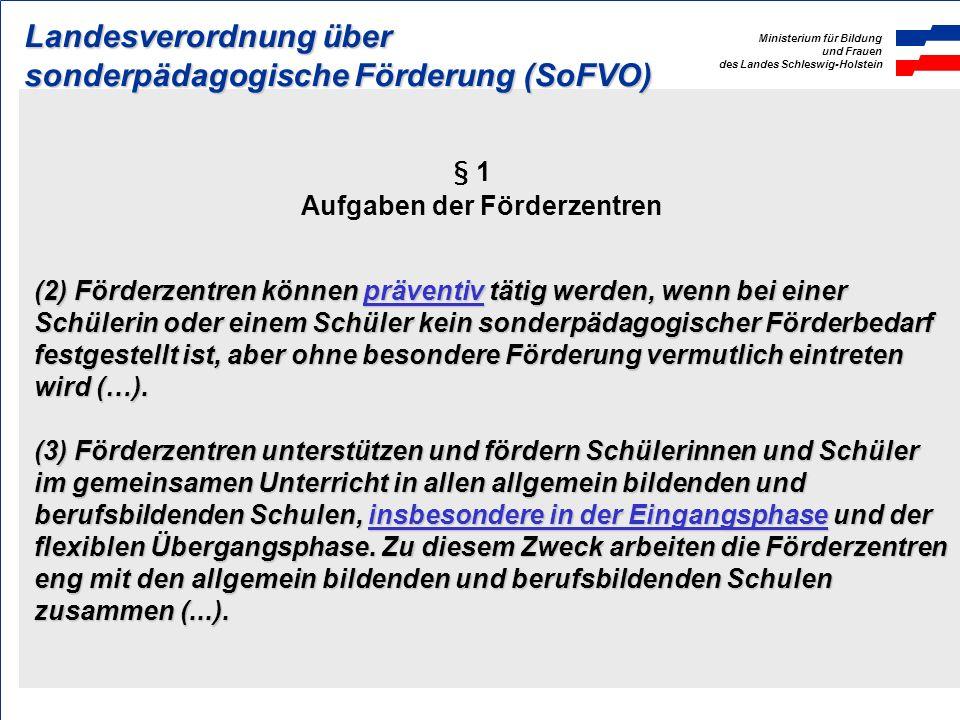 Ministerium für Bildung und Frauen des Landes Schleswig-Holstein Grundschule und Förderzentrum Unterstützungssysteme Die Zusammenarbeit zwischen Förde