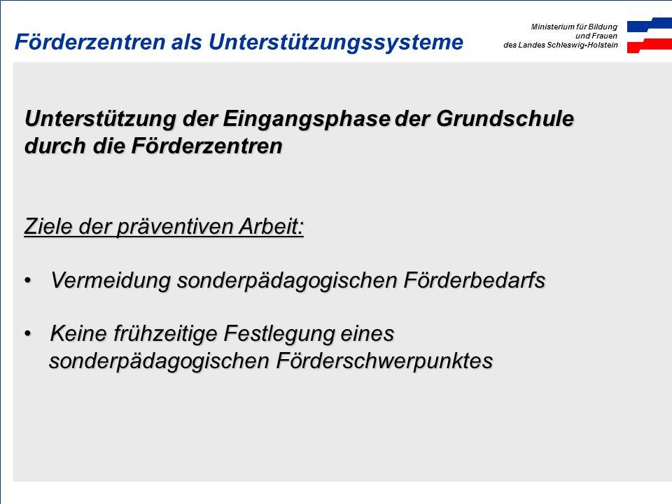 Ministerium für Bildung und Frauen des Landes Schleswig-Holstein Landesverordnung über sonderpädagogische Förderung (SoFVO) § 1 Aufgaben der Förderzen