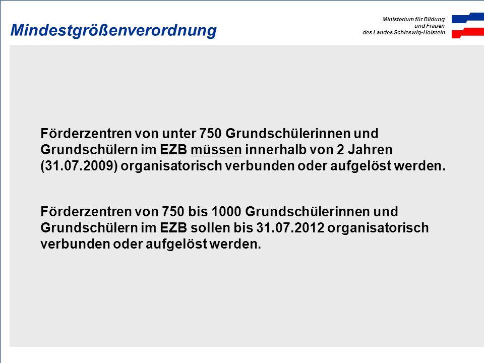 Ministerium für Bildung und Frauen des Landes Schleswig-Holstein Sonderpädagogische Förderung