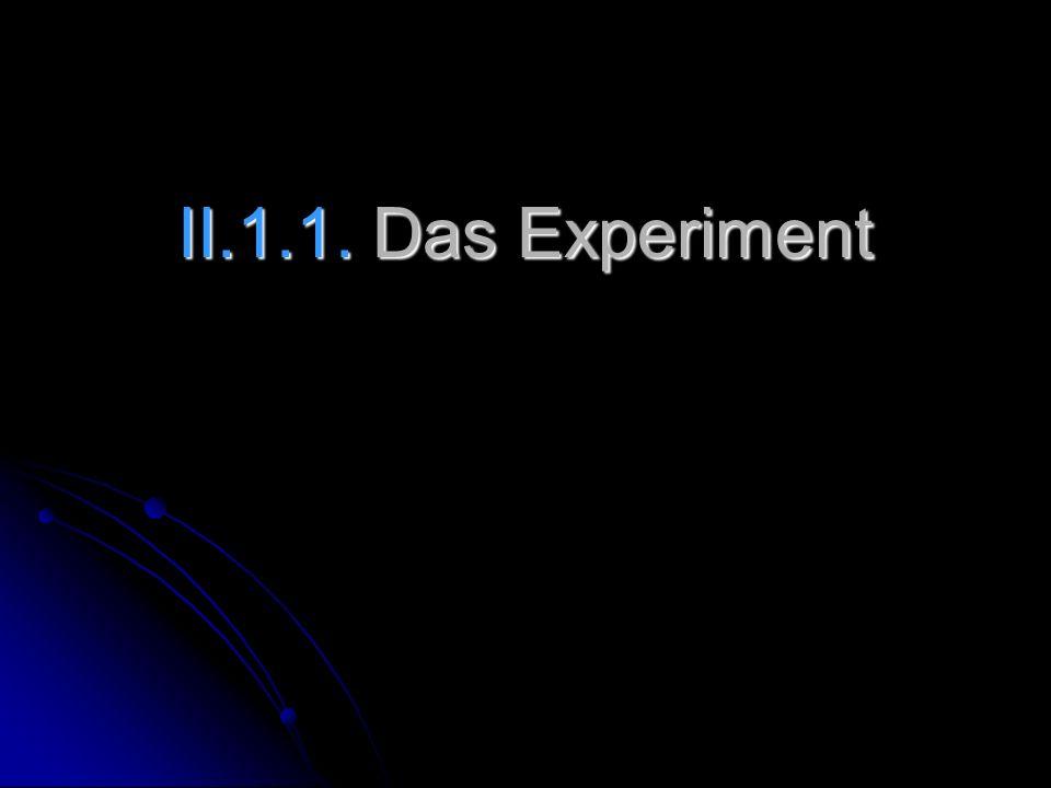 II.1.1. Das Experiment