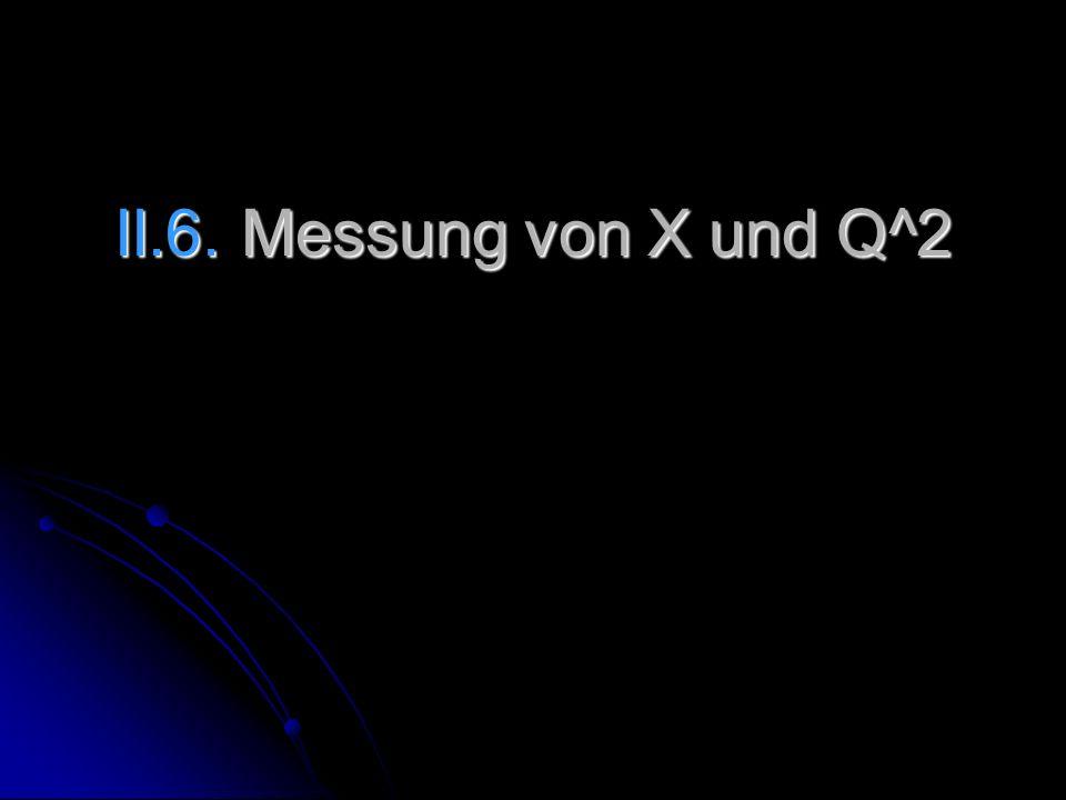 II.6. Messung von X und Q^2