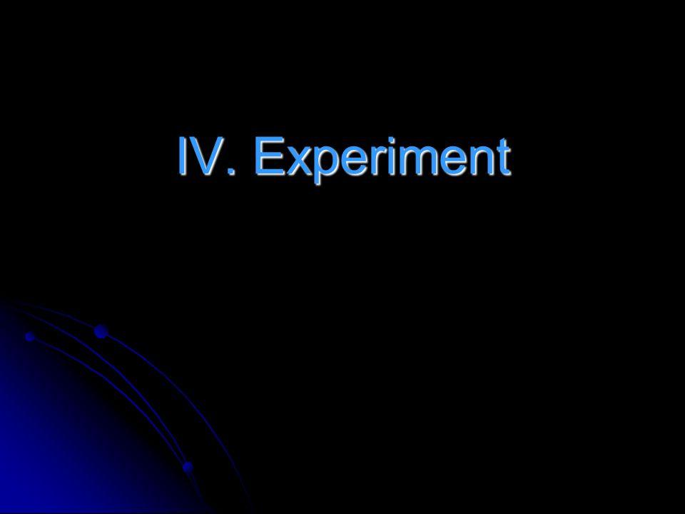 IV. Experiment