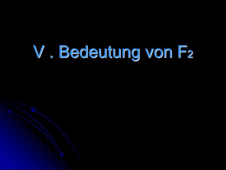 V. Bedeutung von F 2