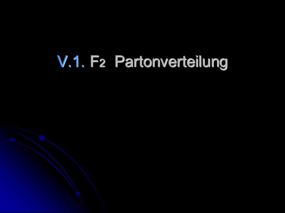 V.1. F 2 Partonverteilung