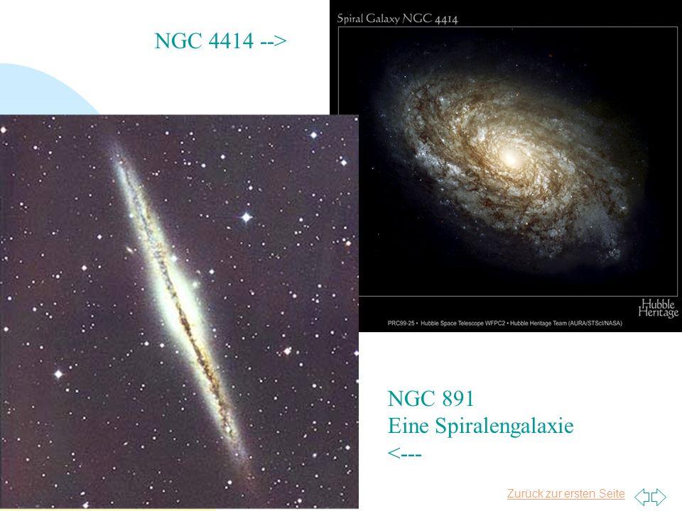 Zurück zur ersten Seite Tim Niels Plasa 12 NGC 891 Eine Spiralengalaxie <--- NGC 4414 -->