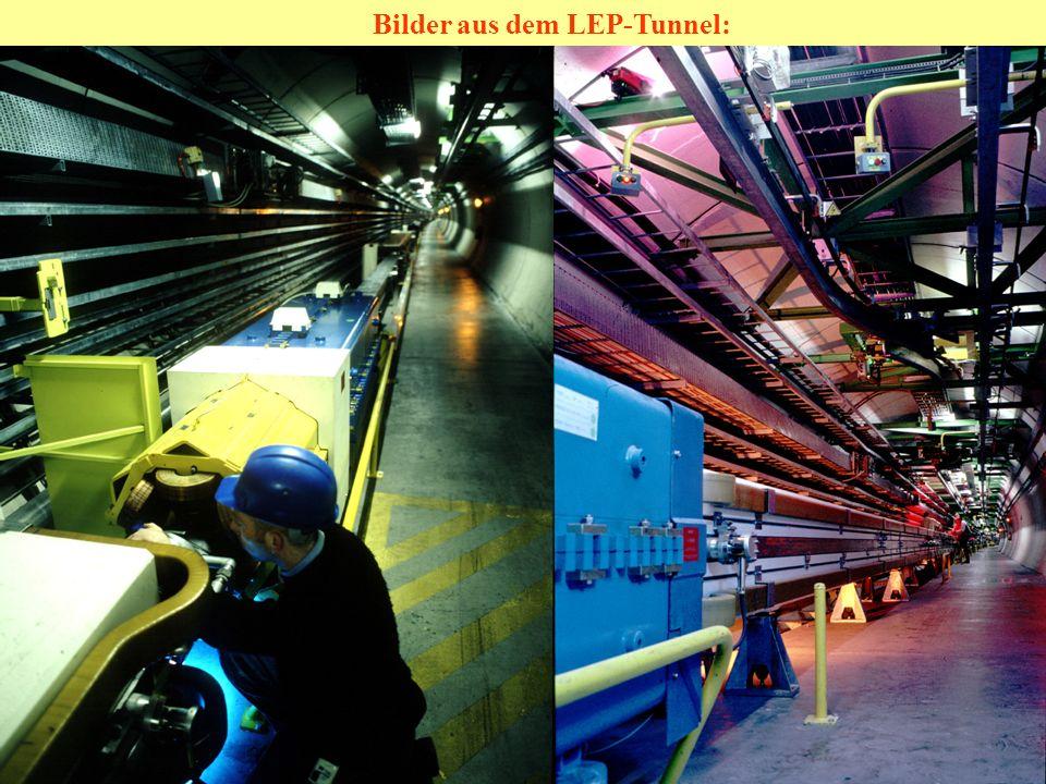 Bilder aus dem LEP-Tunnel: