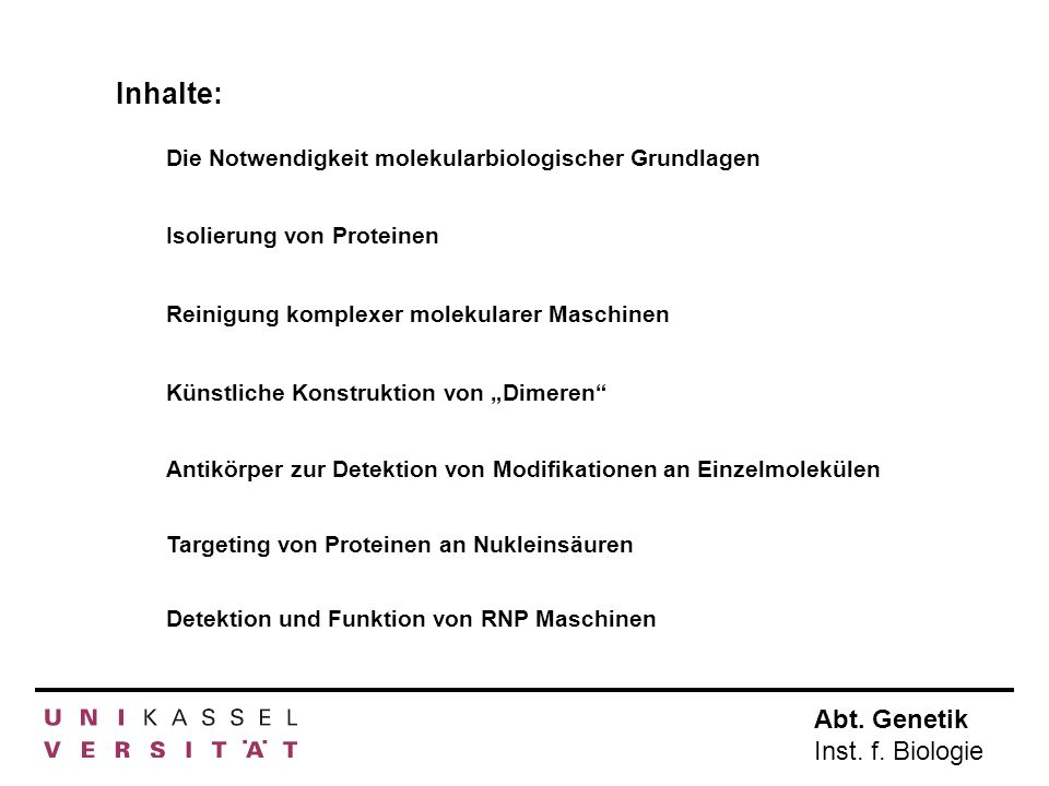 Abt.Genetik Inst. f. Biologie Konstrukte Nr.