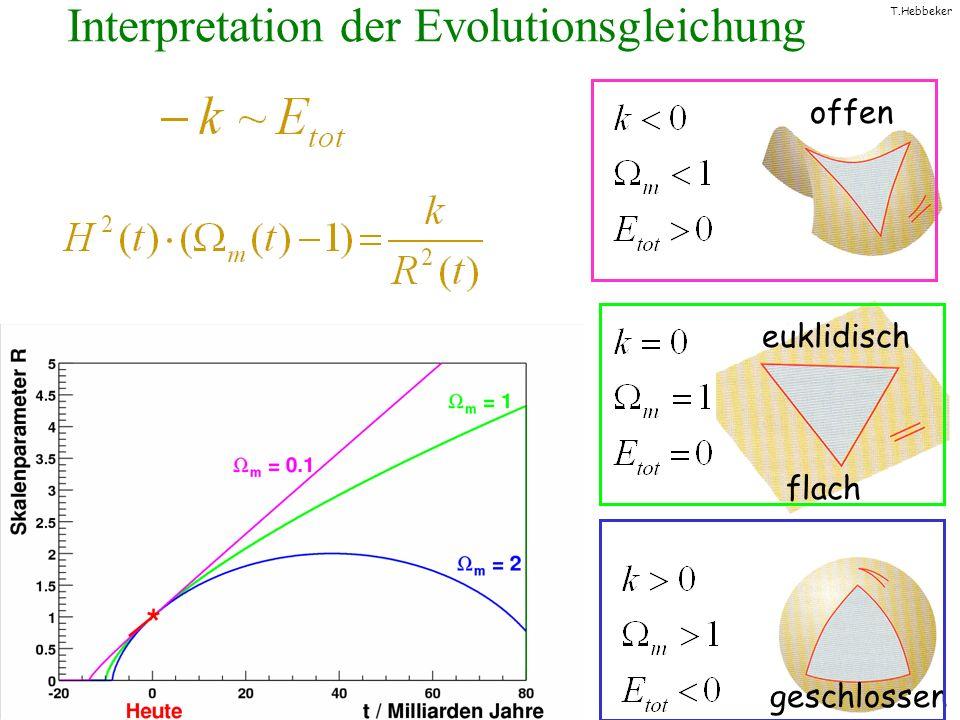 T.Hebbeker Interpretation der Evolutionsgleichung flach offen geschlossen euklidisch