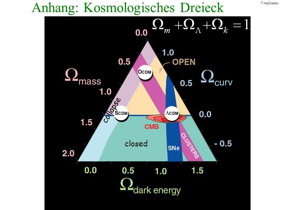 T.Hebbeker Anhang: Kosmologisches Dreieck collapse closed