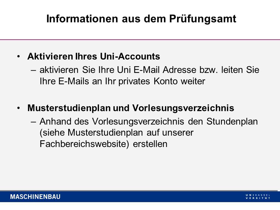 Klausurphase und Prüfungsanmeldung –Klausuren von Pflichtveranstaltungen in diesem Semester vom 24.02.2014 bis 13.04.2014.