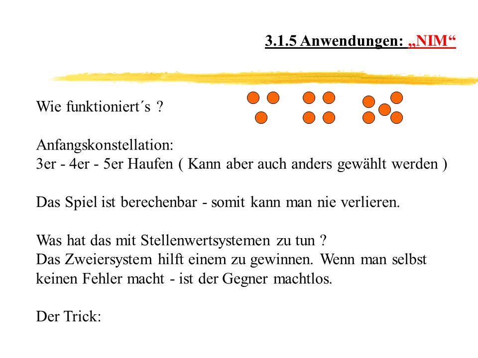 3.1.5 Anwendungen: NIM Wie funktioniert´s .