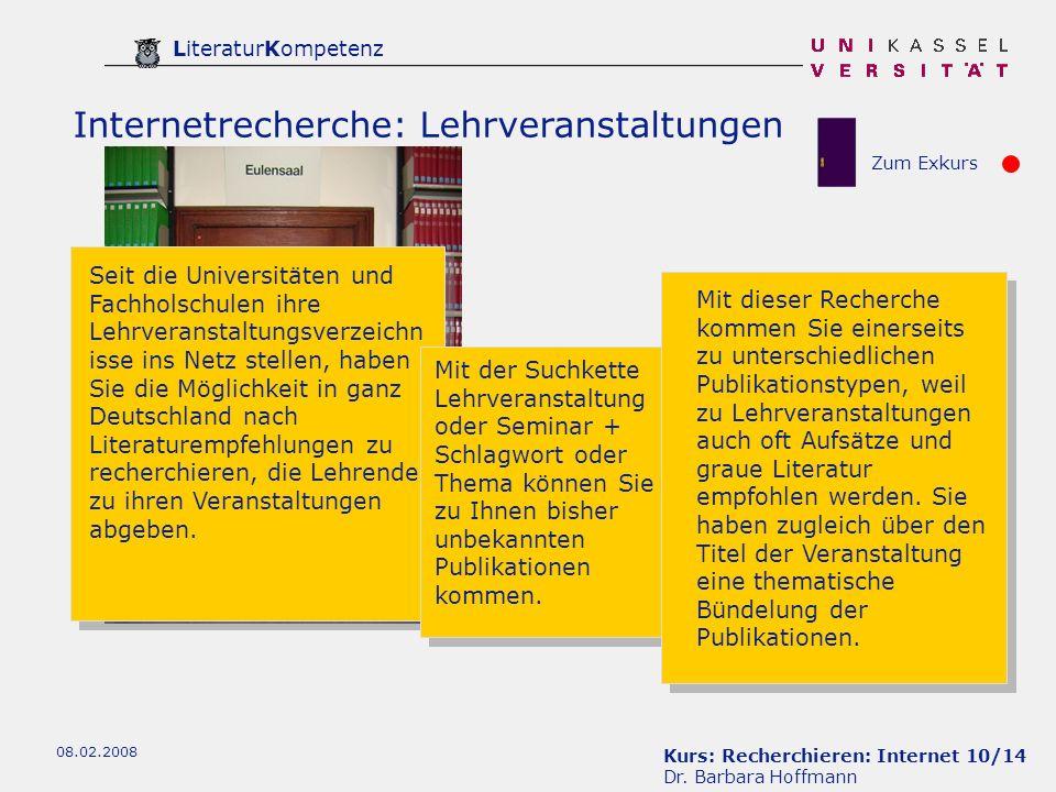 Kurs: Recherchieren: Internet 10/14 Dr.