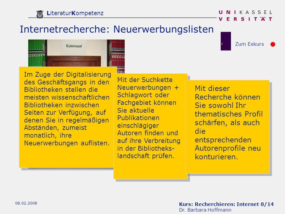 Kurs: Recherchieren: Internet 8/14 Dr.