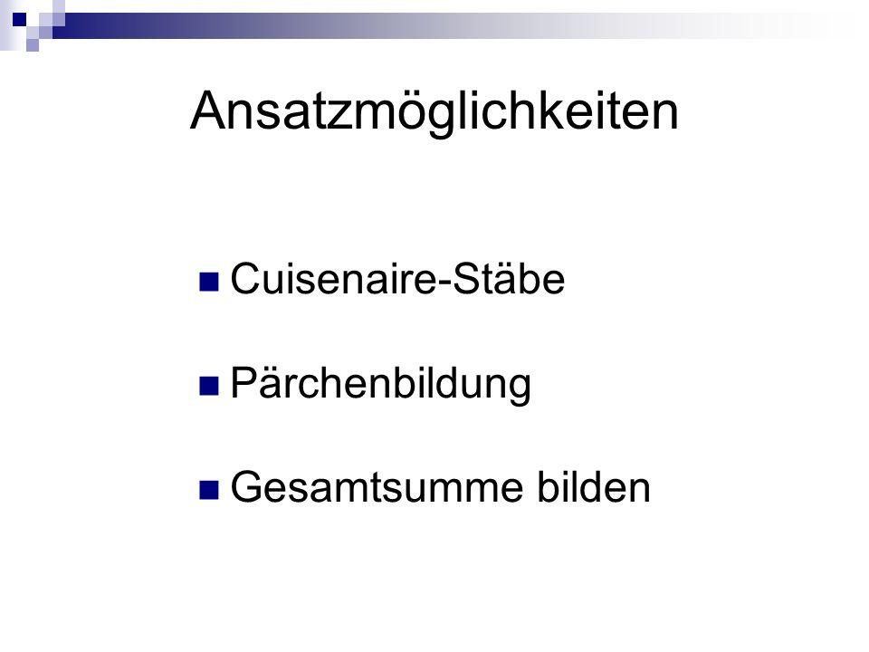 Cuisenaire-Stäbe Abb.1