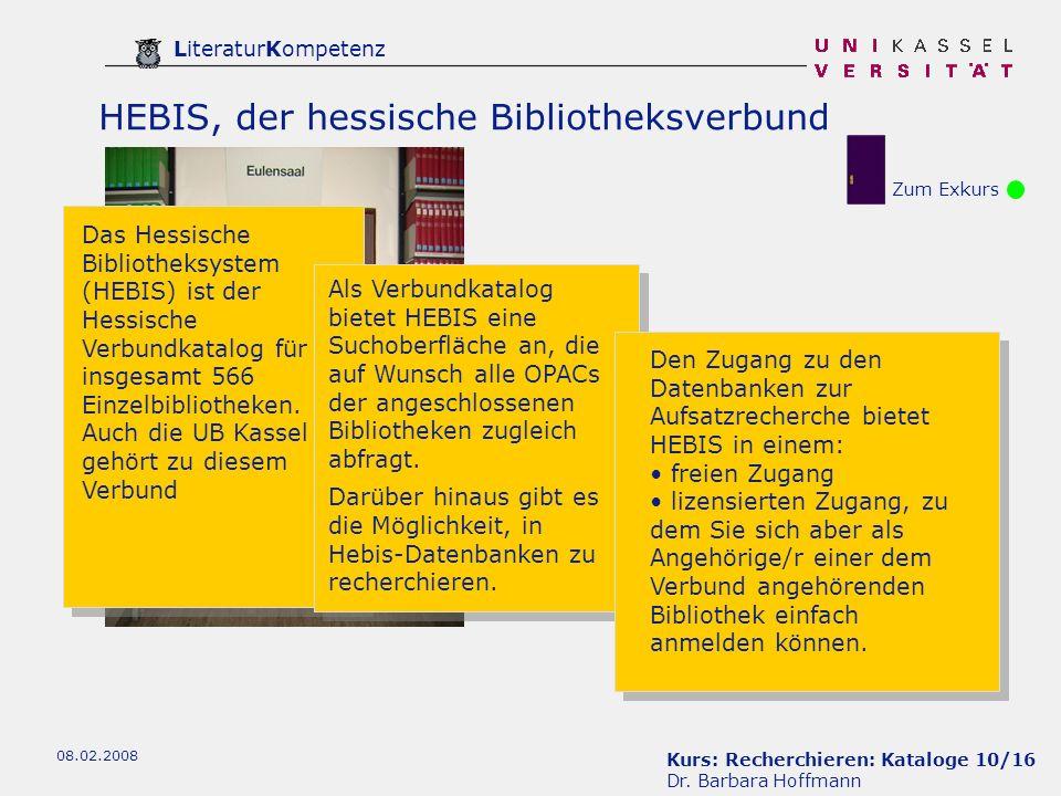 Kurs: Recherchieren: Kataloge 10/16 Dr.
