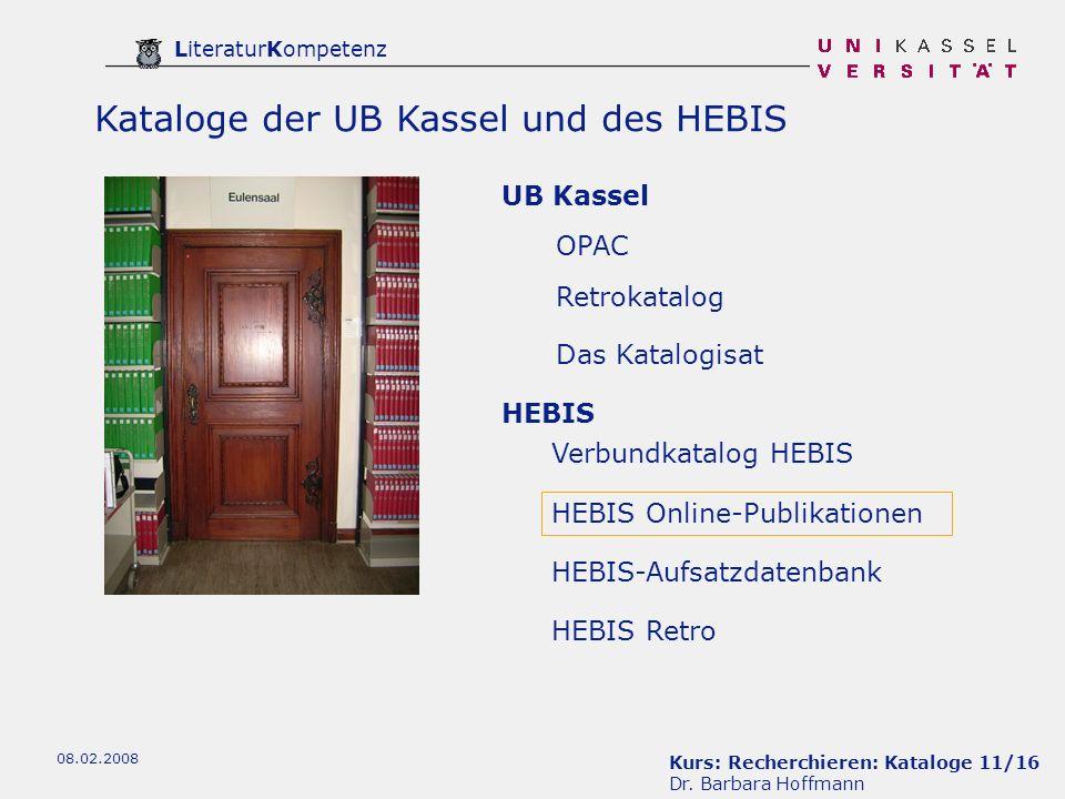 Kurs: Recherchieren: Kataloge 11/16 Dr.
